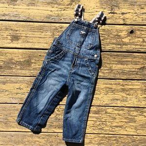OshKosh B'gosh denim overalls jeans /24M 24 months